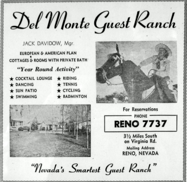 Del Monte Guest Ranch - Yellow Pages 1947-1953