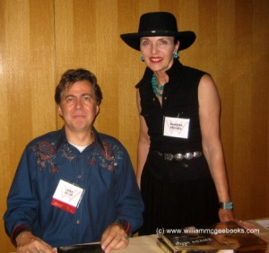 "Emmy-winning screenwriter Kirk Ellis (HBO's ""John Adams"") and Sandra McGee at Western Writers of America Convention, The National Cowboy & Western Heritage Museum, Oklahoma City, OK, June 2009."