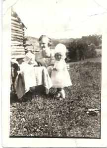 Betty and Doris with their mother, Vivian (Lyon) McGee on Clyde M. Lyon's Catlin Ranch near White Sulphur Springs, MT, 1923. (Author collection)